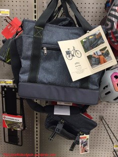 """I like these """"utility"""" bags - the bottom one has a pocket for your morning newspaper, and is insulated for your lunch. Smart."""