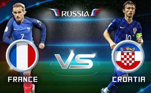 France vs Croatia World Cup 2018 Finals HappyLuke
