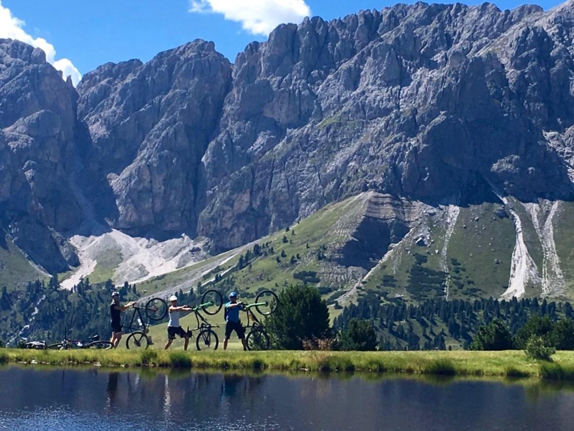 MTB-Trip Dolomiten / Wackerersee, Dolomiten und wir