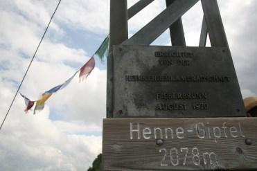 Am Henne-Gipfel in Fieberbrunn, Tirol