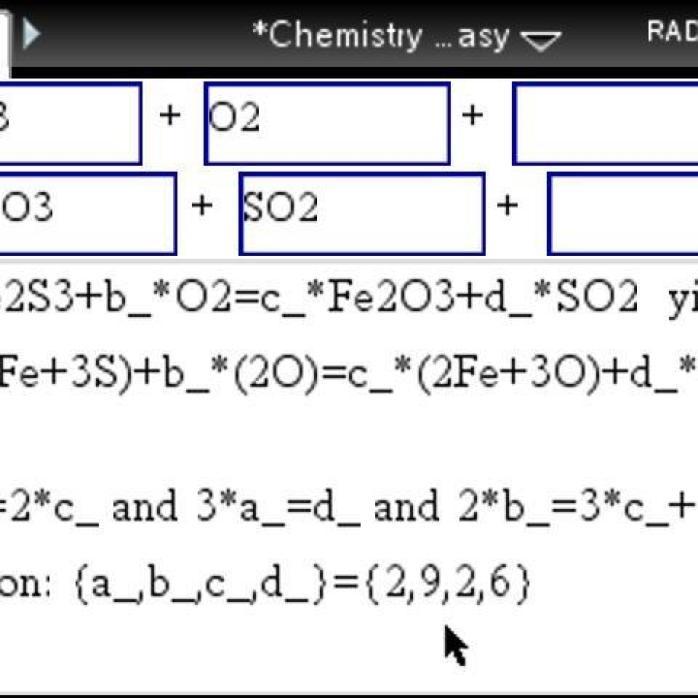 Balancing Chemical Equations Calculator App - Tessshebaylo