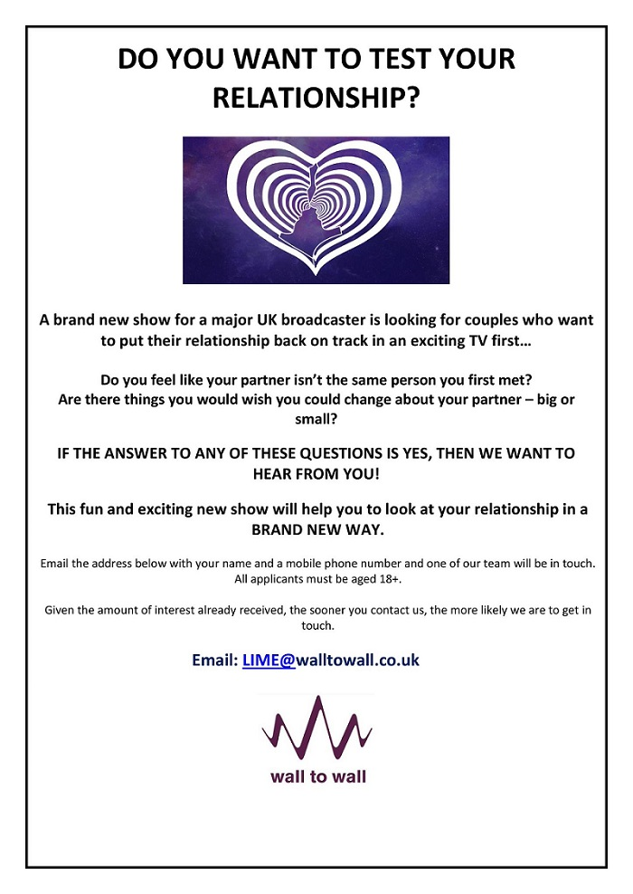 Fancy 'fixing' your relationship live on TV?