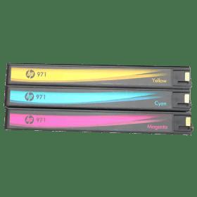 tinteiro vazio HP CN622 3 4AE 971 CMY