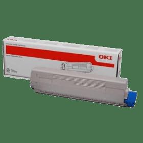 toner vazio OKI C831 C841 C822 CL