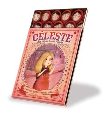 Das Streichhölzchen Celeste träumt davon, endlich zu erstrahlen. Nichts erwartet sie sehnlicher, als endlich als Erwählte aus der Streichholzschachtel herausgenommen zu werden. Bis es soweit ist, stellt sie sich all die zauberhaften Momente vor. Eines Tages ist es soweit, ein kleines Mädchen befreit sie aus der Schachtel