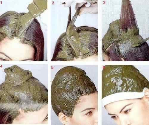 como teñir el pelo con henna