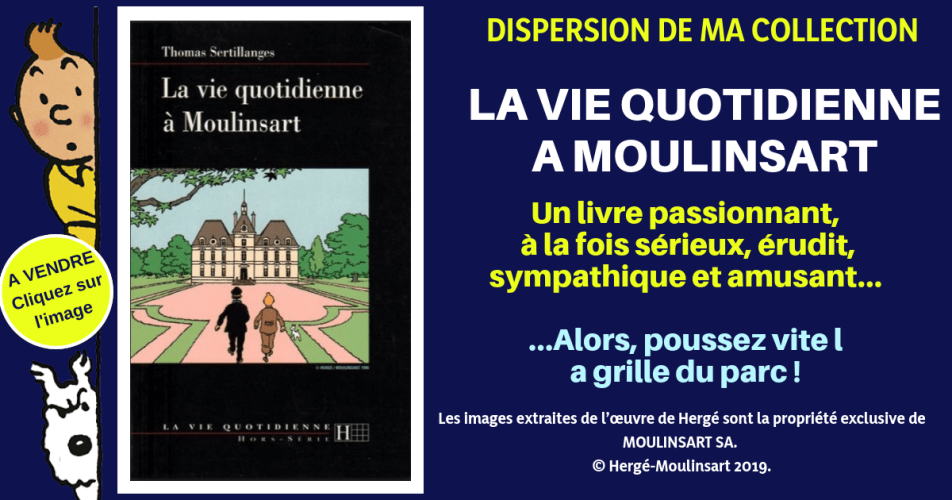 TINTIN : LA VIE QUOTIDIENNE A MOULINSART : 216 PAGES DE PURE TINTINOPHILIE