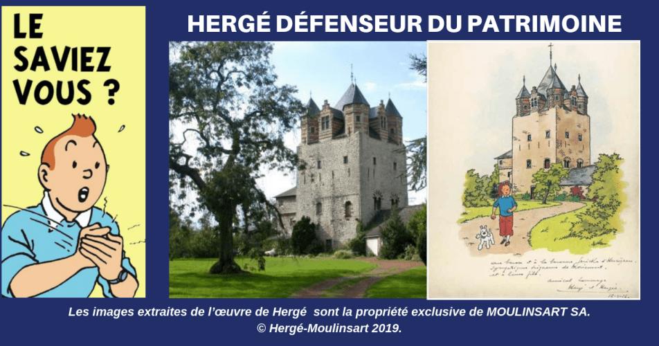 HERGÉ, LA TOUR DE MORIENSART ET LE SOUCI DU DÉTAIL ... (1956)