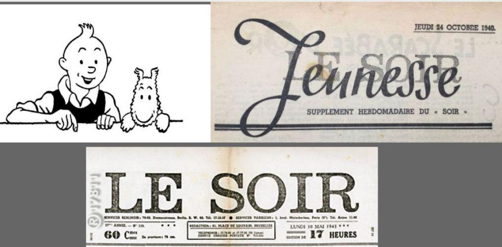"""HERGÉ : """"LE SOIR JEUNESSE"""" ET LE QUOTIDIEN """"LE SOIR""""  1940 - 1944"""