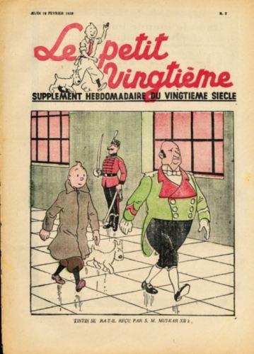 PETIT VINGTIÈME 1939 avec SUPERBE COUVERTURE TINTIN