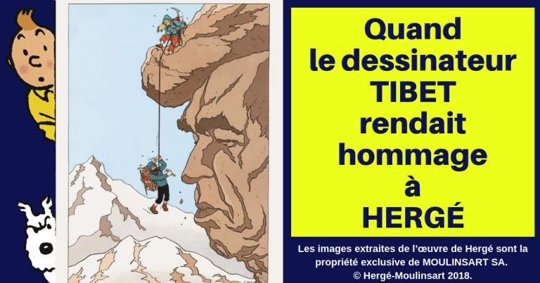 L'HOMMAGE DU DESSINATEUR TIBET A HERGÉ
