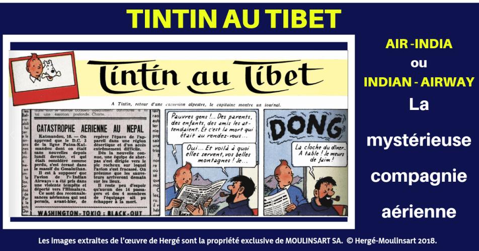 TINTIN AU TIBET : LE MYSTÈRE DE LA COMPAGNIE AÉRIENNE...