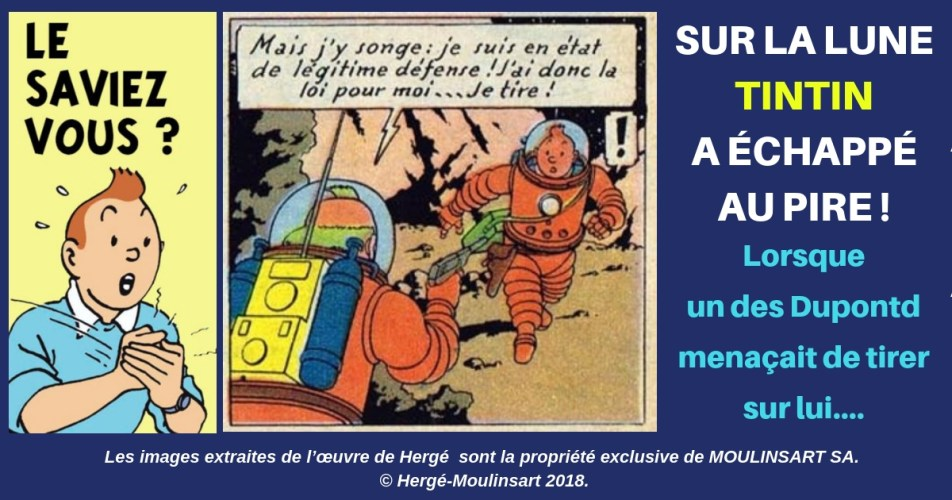 ON NE MENACE PAS TINTIN AVEC UN REVOLVER... SURTOUT QUAND ON S'APPELLE DUPONTD
