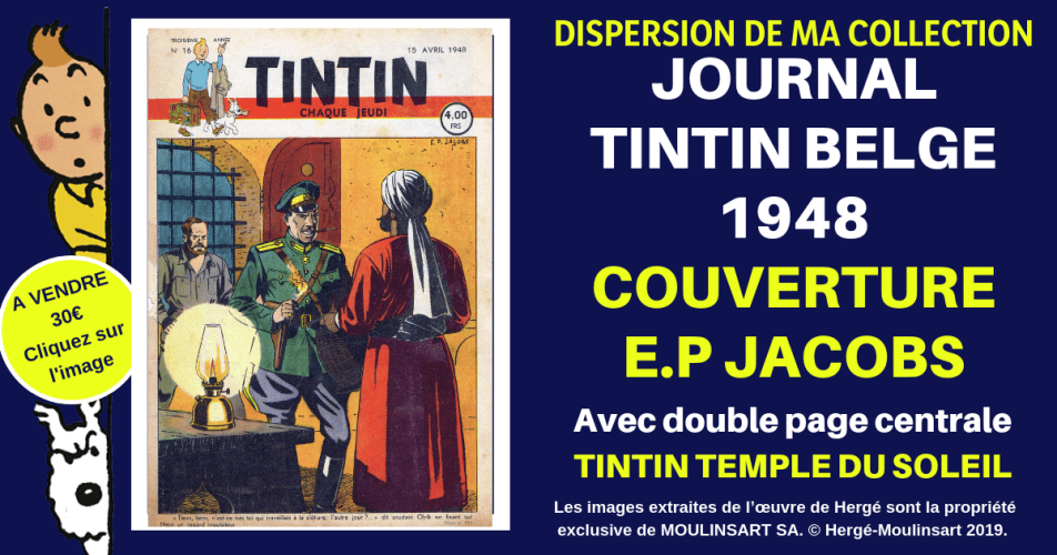 JOURNAL TINTIN COUVERTURE E.P. JACOBS (1948 – ESPADON)