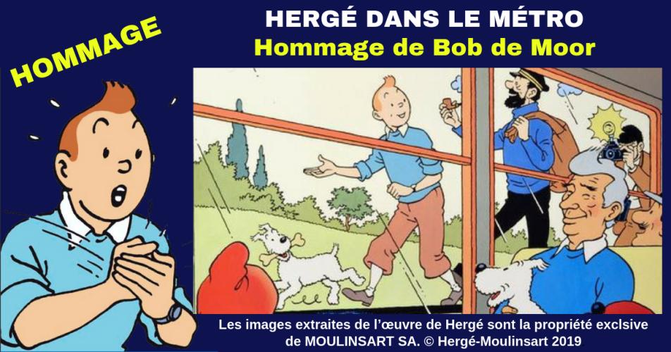 TINTIN : MAGNIFIQUE HOMMAGE DE BOB DE MOOR A HERGÉ