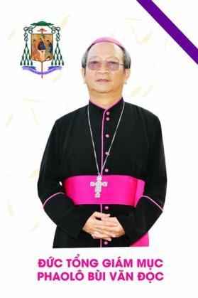 Image result for Đức Giám mục Phaolô Bùi Văn Đọc đi viếng