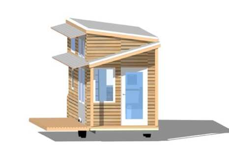 Tiny House on Wheels Floor Plans Blueprint for Construction Tiny Project Tiny House Front Elevation