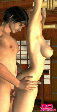 Classy sandy-haired THREE DIMENSIONAL seductress Sarah gives deep hatch and gets boinked by splendid George