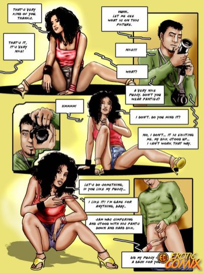 Curly haired black-haired comics seductress railing a monstrous dick and providing blowage on the couch