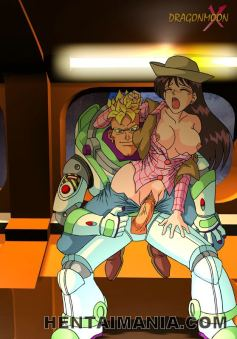 Slim brunette anime porn cockslut getting toyed by 2 ultra-kinky monsters