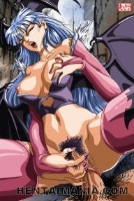 Spicy anime pornography siren displaying her giant tits