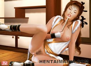 Ultra-kinky anime porn super-bitch pouncing a thick dark-hued penis