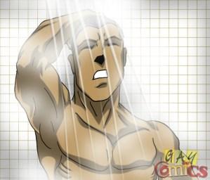 Athletes strike the showers