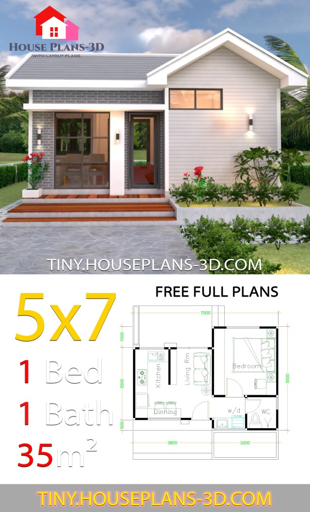 Small House Plans 5x7 with One Bedroom Gable Roof - SamPhoas ... on country house plans with, two story house plans with, european house plans with, mediterranean house plans with, tiny house plans with, charleston style house plans with, log house plans with, luxury house plans with, small house plans with, craftsman house plans with, modern house plans with,