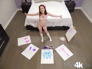 Tiny4k Alice Merchesi in Alice's Messy Paint Party 5