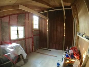Progress! A bigger, warmer room!