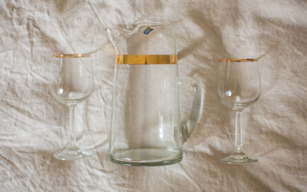 thrifting-finds-vintage-west-virginia-glass-pitcher