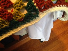 I did two rows of single crochet for the border, to give it a little heft.