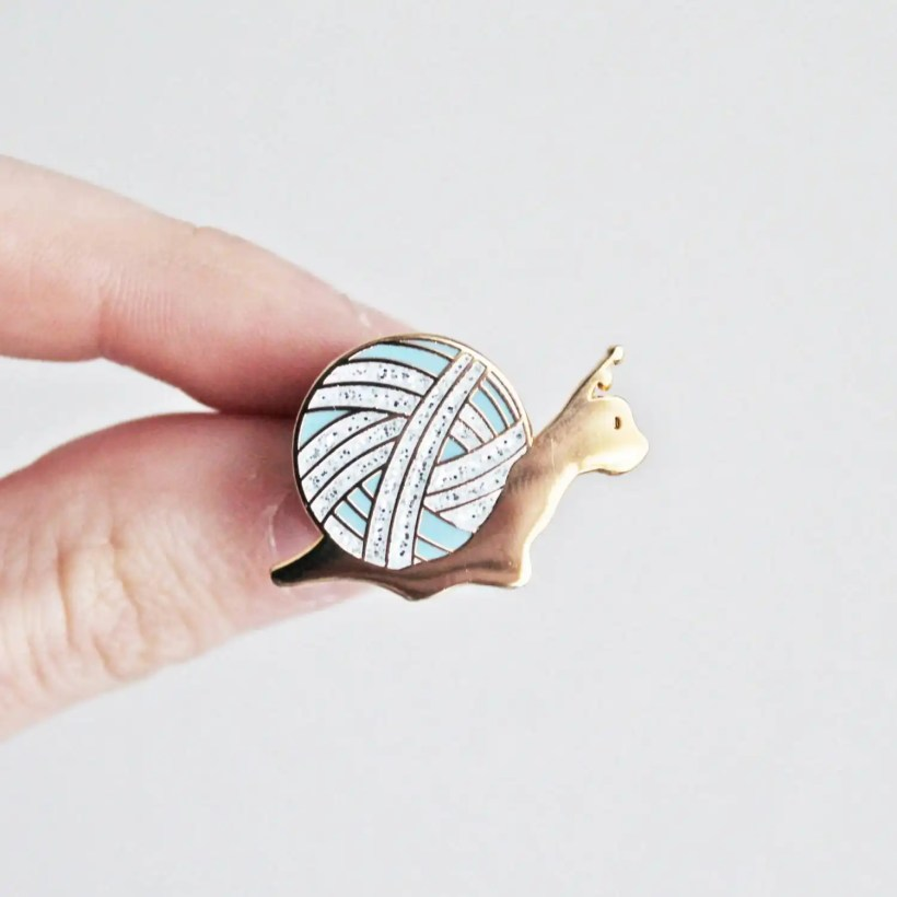 Slow Knitter pin by Twill and Print