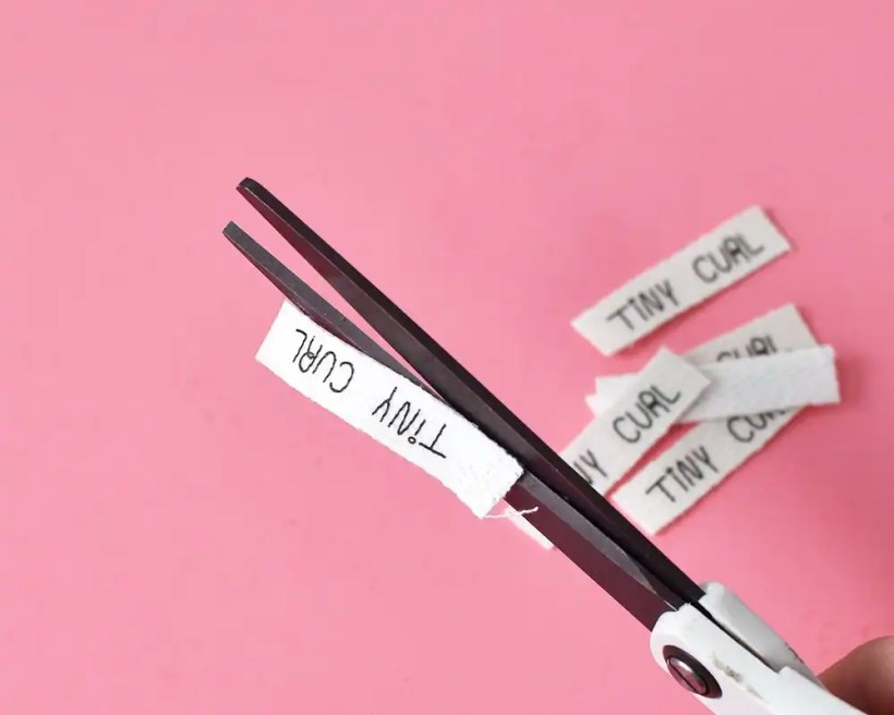 DIY Fabric Labels - Trim Excess