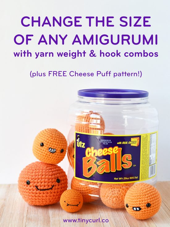 Yarn Weight and Cheese Puff Pattern by Tiny Curl