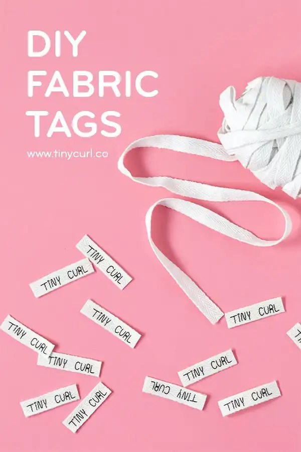 DIY Fabric Tag Tutorial by Tiny Curl