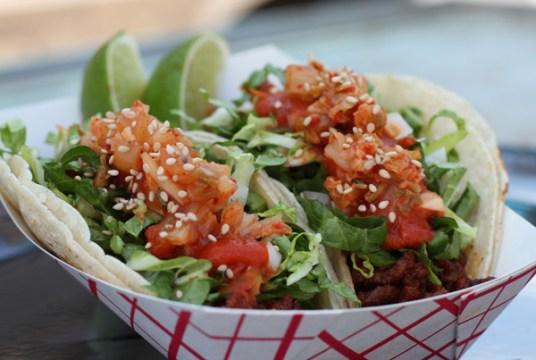 Chi'Lantro Kimchee tacos