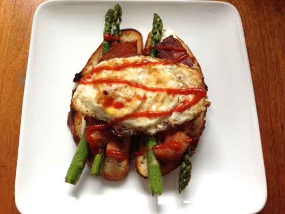 Bacon Egg Asparagus Breakfast Sandwich-Tiny Global Kitchen