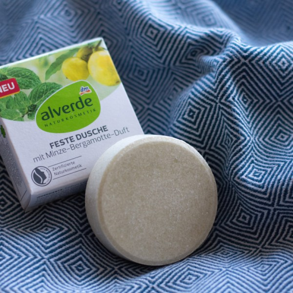 Alverde feste Dusche mit Minze-Bergamotte-Duft