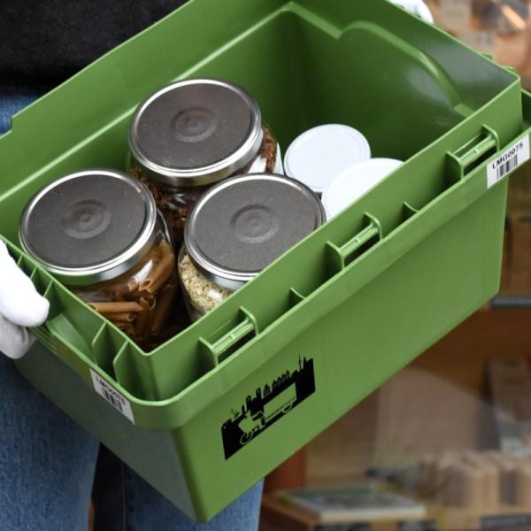 Liefergrün - unverpackte Lebensmittel, mit dem Lastenrad geliefert*
