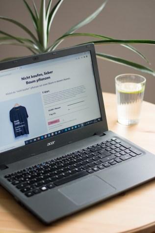 online shop nichts kaufen, nichts kaufen, fix our planet