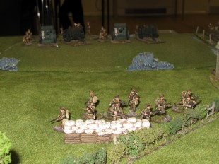British artillery deployed on table