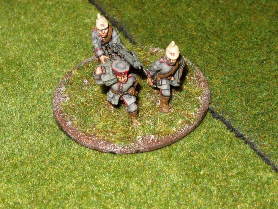A German machine gun team advancing