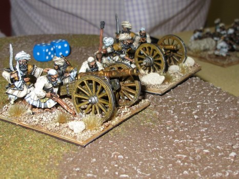 The obsolete Afghan artillery was significantly outclassed by the modern British breechloaders.
