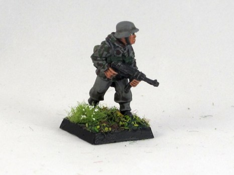 A section commander with an MP40 smg.