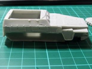 Note the lines on the body side panels, and the messy casting towards the front