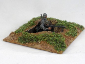 I made a squad of Germans in foxholes