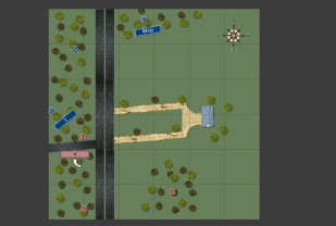 Both sides deploy sections into the southern woods