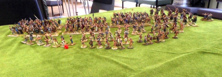 My shambolic horde of barbarians musters to challenge the might of Rome.