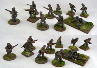 Added more metal figures to my late war Germans